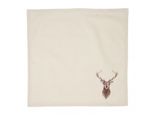 Béžové textilní ubrousky s jeleny Cosy Lodge - 40*40 cm - sada 6ks