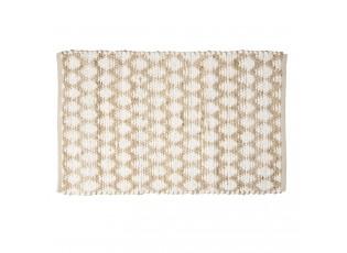 Hnědo -bílý jutový koberec - 60*90 cm