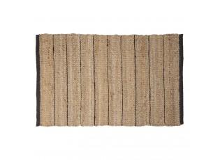 Přírodní jutový koberec s černými pruhy Benny - 60*90 cm