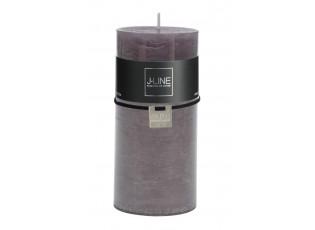 Šedá svíčka Granite válec L - Ø 7*15 cm/72h