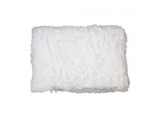 Bílý chlupatý polštář White - 40*60*15cm