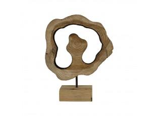 Vyřezávaná dekorace ze dřeva na podstavci Brindilles – 10x26x32,5cm