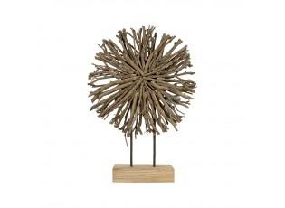 Dřevěná dekorace z větviček na podstavci Brindilles – 57cm