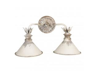 Krémová kovová nástěnná vintage lampa Blow - 56*30*33 cm
