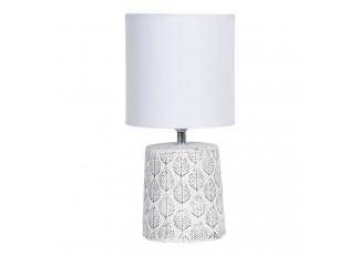 Stolní lampa s listy a bílým stínidlem - Ø  15*31 cm E14/max 1*40W