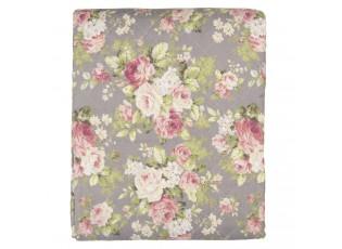 Taupe přehoz na jednolůžkové postele s růžemi Roses - 140*220 cm