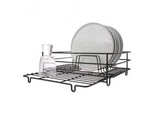 Černý kovový odkapávač na nádobí Matt - 40*26*13,5cm