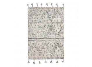 Béžovo-černý ručně tkaný vlněný koberec Berber - 120*180 cm