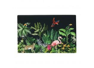 Černá rohožka před dveře s motivem džungle - 75*50*1cm