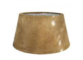 Hnědo-bílé lampové stínidlo z kravské kůže Taurus- 50*40*26cm