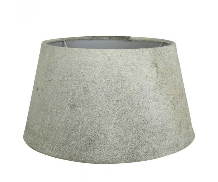 Kožené šedé stínidlo Taurus - 50*40*26cm