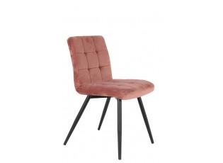 Sametová starorůžová jídelní židle OLIVE - 44*82*50 cm