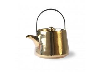 Zlatá keramická ručně vyrobená konvička bold & basic - 0,7L