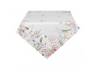 Čtvercový bavlněný ubrus So Floral - 100*100 cm