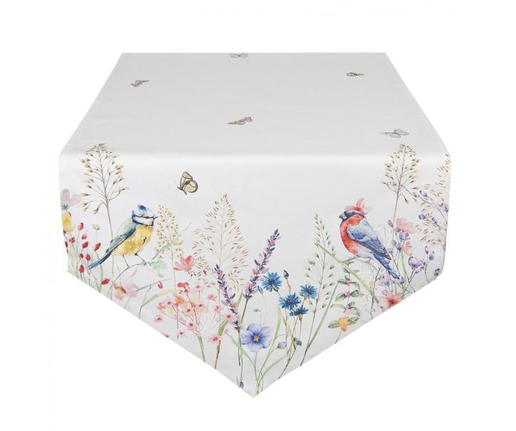 Bavlněný běhoun na stůl So Floral - 50*160 cm