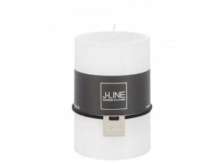 Bílá nevonná svíčka M válec  - Ø 7*10cm/ 48H