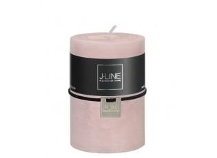 Růžová nevonná svíčka válec M - Ø  7*10 cm/48H