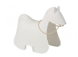 Bílý houpací kůň Cheval - 81*39,5*60,5 cm