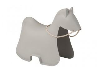 Šedý houpací kůň Cheval - 81*39,5*60,5 cm