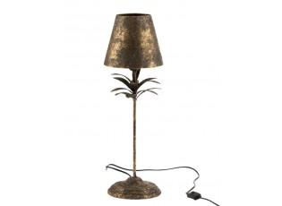 Černo-zlatá kovová stolní lampička Van Antique gold - Ø 22*60 cm
