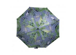 Šedý deštník s motivem džungle Jungle grey - 105*105*88cm