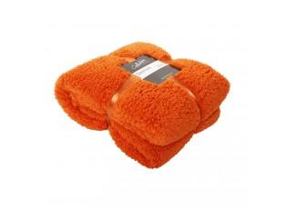 Oranžový chlupatý pléd Denmark orange rust - 150*200 cm