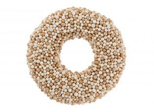 Měděno-krémový perličkový věnec Baubles - Ø 50cm