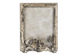 Fotorámeček s patinou s dekorací ptáčků - 16*7*22 cm/15*20 cm
