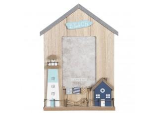 Fotorámeček ve tvaru domku s dekorací majáku Beach