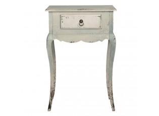 Dřevěný retro noční stolek se šuplíkem - 60*30*91 cm