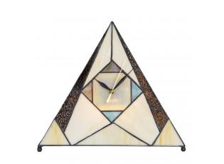 Tiffany stolní lampa / hodiny Sachaverell - 30*12*26 cm E14/max 1*25W