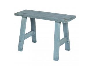Modrá dekorační stolička Quinton - 40*14*27 cm