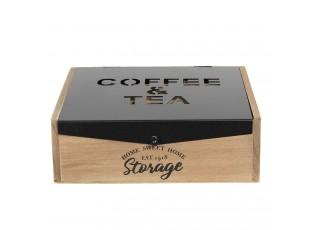 Krabička na čaj Coffee & Tea - 24*25*8 cm