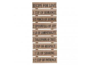 Dřevěný nástěnný žebřík Recipe for love- 24*2*60 cm