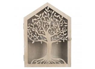 Dřevěná skříňka na klíče se stromem - 18*6*25 cm