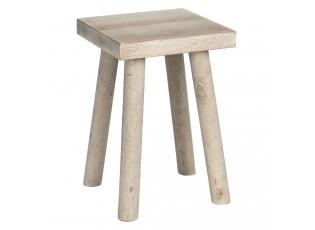 Dekorační stolička ze světlého dřeva - 18*18*26 cm