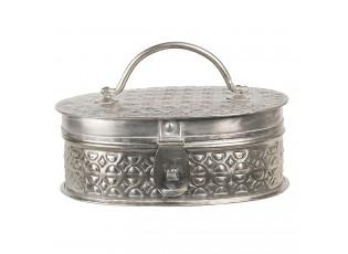 Stříbrná kovová krabička - 19*13*7 cm