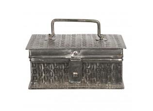 Kovový úložný box ve stříbrné barvě Marcelon - 18*11*8 cm