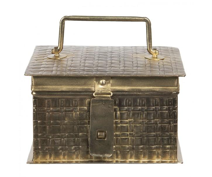 Kovový úložný box ve zlaté barvě Marcelon - 17*17*10 cm