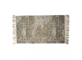 Vintage bavlněný koberec s květinovými motivy a třásněmi- 70*120 cm