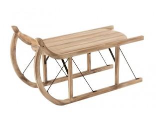 Odkládací stolek dřevěné sáňky Sleit  - 100*43*56cm