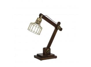 Dřevěná stolní lampička Ebke antik bronze - 50*15*45 cm