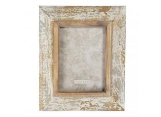 Dřevěný fotorámeček s patinou - 22*3*27 cm / 15*20 cm