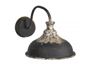 Černá nástěnná retro lampa s patinou - 40*27*25 cm E14/max 1*25W