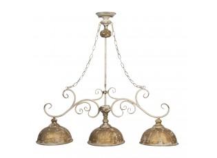Kovové závěsné světlo s patinou ve vintage stylu - 99*26*88 cm E27/max 3*60W