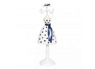 Stojánek na šperky panenka v puntíkatých šatech Robe - 10*8*32 cm