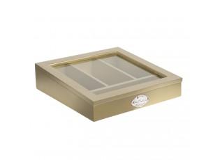 Zlatý dřevěný příborník Fresh Daily - 30*30*8 cm