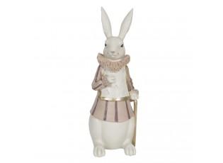 Dekorace králíka s límcem a hůlkou - 11*10*27 cm