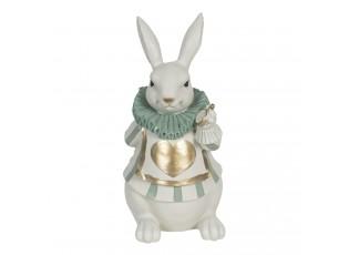 Dekorace králíka se zlatým srdíčkem - 17*14*33 cm