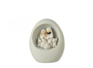Šedý Betlém v imitaci kamene - 10*7*12 cm